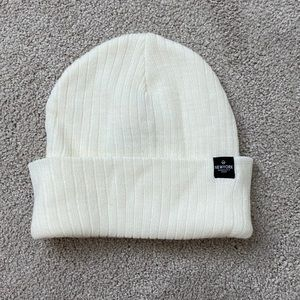 Cotton On White Ribbed Beanie